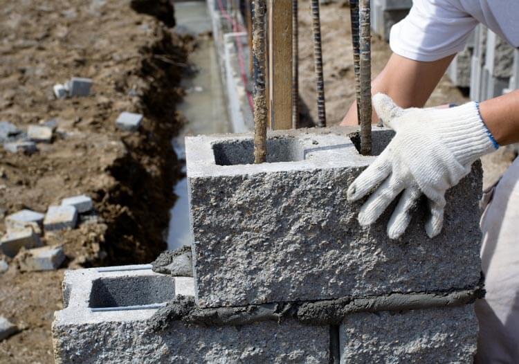 Concrete Block Structure Construction